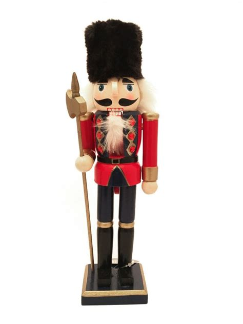 red christmas wooden nutcracker cm