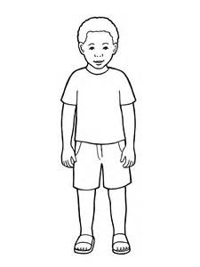 Primary Boy Standing Drawing