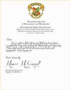 Hogwarts Letter Printable Cover Letter Example