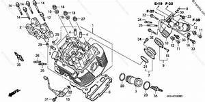 Honda Motorcycle 2002 Oem Parts Diagram For Cylinder Head