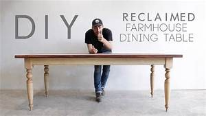 Building A Reclaimed Wood Top Dining Table Modern Builds