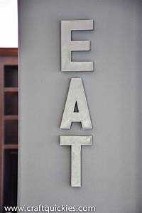 anthro knockoff metal letter decor With metal alphabet letters for decoration