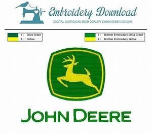 Yamaha Chart John Deere Logo 3 Embroidery Design