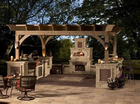 patio furniture for small spaces with outdoor kitchen