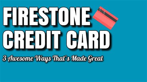 America relies on firestone to keep their cars running newer, stronger, longer. Firestone Credit Card - 3 Awesome Ways That's Made Great - YouTube