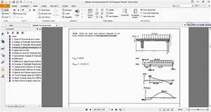 Sap2000-ex 4 36 Draw The Shear And Moment Diagrams