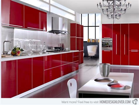 15 Extremely Hot Red Kitchen Cabinets  Decoration For House