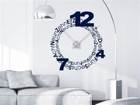 Große Uhr Wand by Wandtattoo Uhr Designschrift Wandtattoo Net