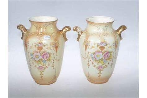 Pair Of Crown Devon Ware Fieldings Vases