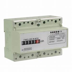 Digital 3 Phase 4 Wire 7p Din Rail Electric Meter Electronic Kwh Meter 3x220v  380v Din Rail