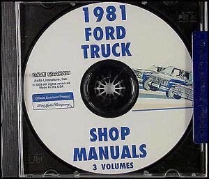 ford truck shop manual cd     bronco