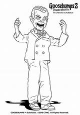 Coloring Goosebumps Slappy Pages sketch template