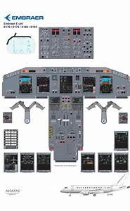 Embraer E 175  190  195 Cockpit Training Diagram