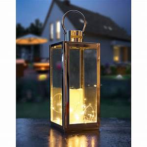 Laterne Kerze Draußen : edelstahl laterne mit led kerze 17 x 16 x 41 cm ~ Watch28wear.com Haus und Dekorationen