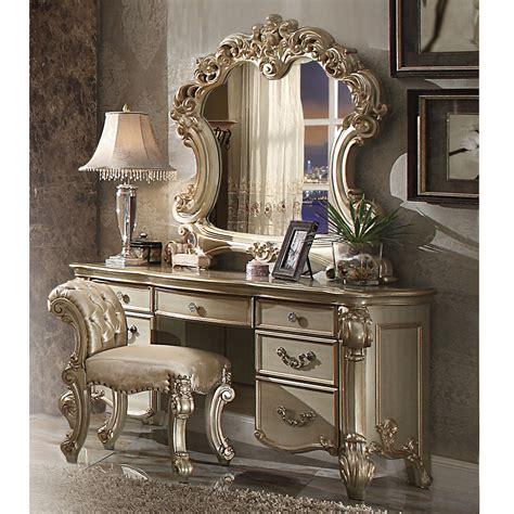 vendome bedroom luxury vanity table makeup desk mirror