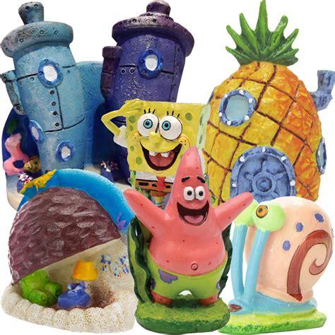 spongebob patrick home mini aquarium ornament set