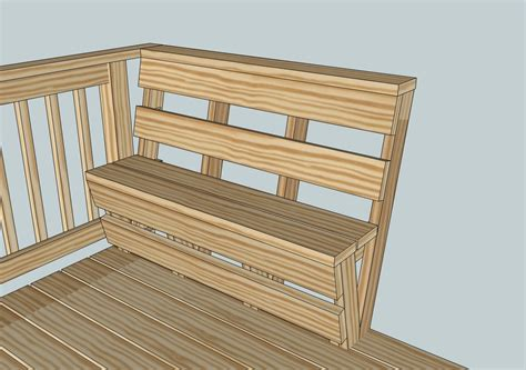 Deck Bench Design by Custom Deck Bench And Railing Kreg Owners Community