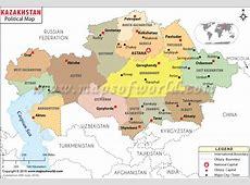 Political Map of Kazakhstan Kazakhstan Provinces Map