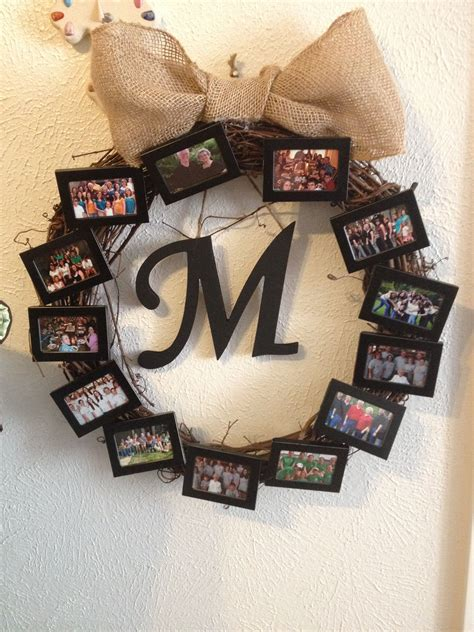 dollar tree christmas letters picture wreath with dollar tree picture frames a wreath from hobby lobby and the bow is made