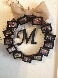 picture wreath with dollar tree picture frames a wreath With wooden letters dollar tree