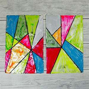Faux stained glass art for kids - Mum In The Madhouse