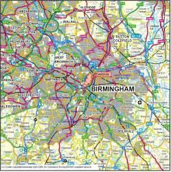 Birmingham and Surrounding Area Map
