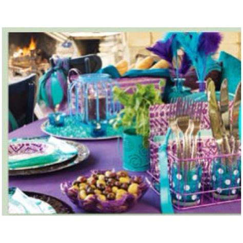 Purple And Teal Baby Shower Decorations by Teal Turquoise And Purple Decorations Wedding