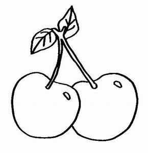 Small Cherry Fruit Sweet   fruits coloring pages ...