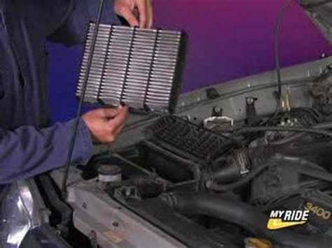 change  air filter youtube