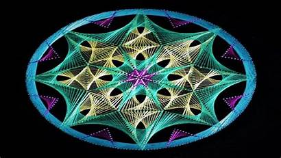 String Mandala Pattern Triangle
