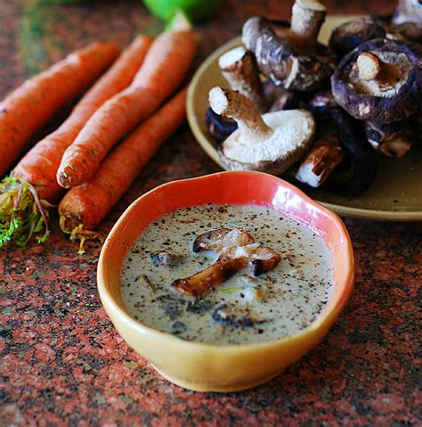 Creamy Shiitake Mushroom Soup