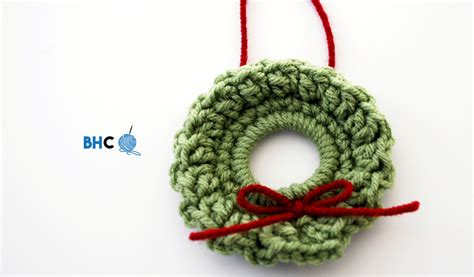 mini crochet wreath bhooked crochet knitting