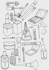 Coloring Pages Makeup Books sketch template