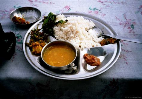national cuisine of national dish dal bhat of nepal 123countries com
