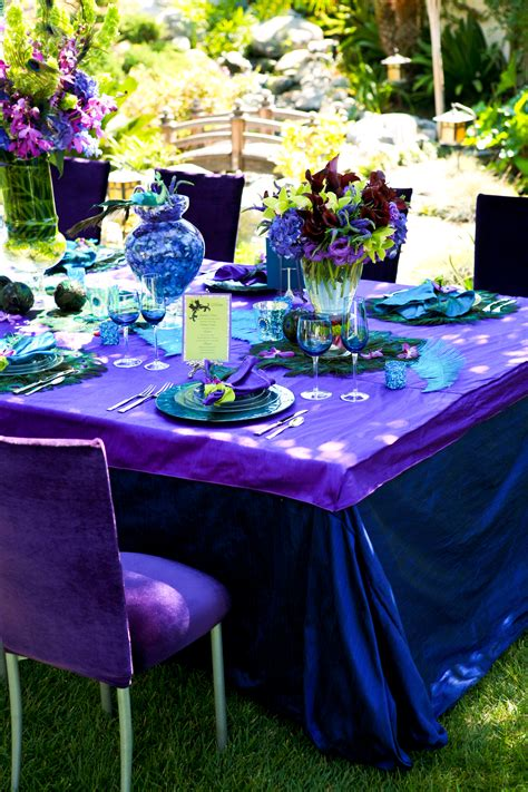Peacock Blue Dupioni Silk Table Cloth Indigo Dupioni Silk