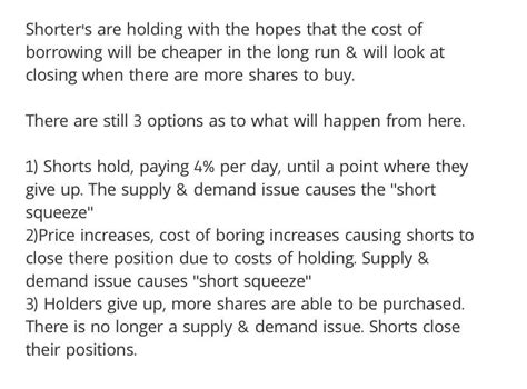 You ever wonder why shorters are not closing their ...