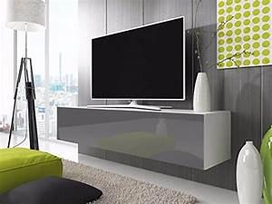 Tv Schrank Weiß Matt : tv lowboard schrank simple 100 cm wei matt gl nzend grau ~ Bigdaddyawards.com Haus und Dekorationen