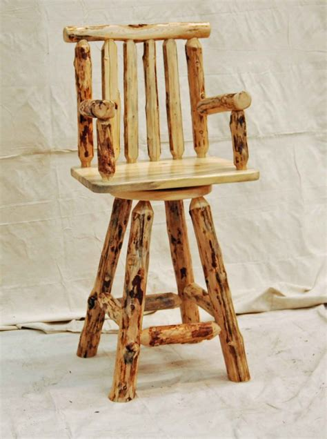 Log Stool - log swivel stool
