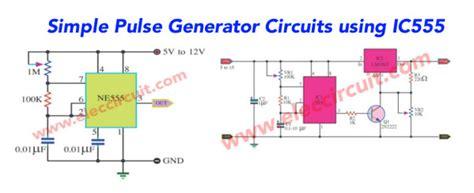 simple 555 pulse generator circuit eleccircuit