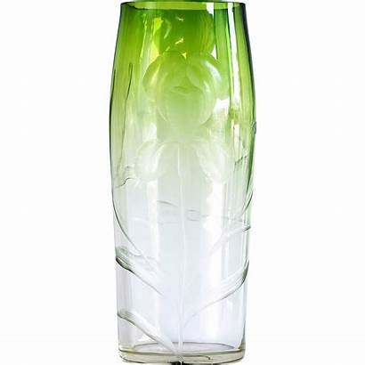 Clear Moser Vault Vase Cut Lane