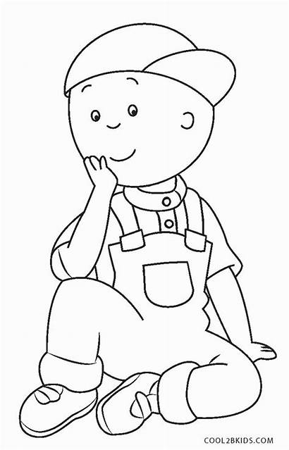 Coloring Caillou Pages Sheets Printable Books Cool2bkids