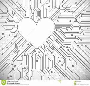 heart from circuit royalty free stock images image 22675309 With circuit board 2