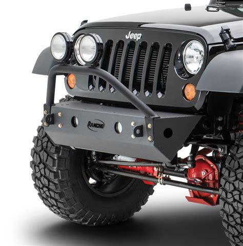 jeep bumper grill rancho rs6230b rockgear front grill guard for 07 18 jeep