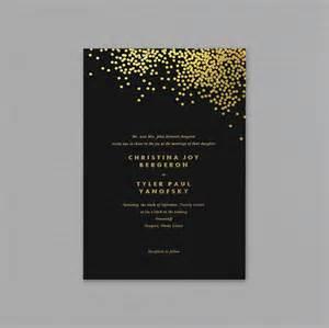 free sle wedding invitations free black and gold wedding invitation templates wedding