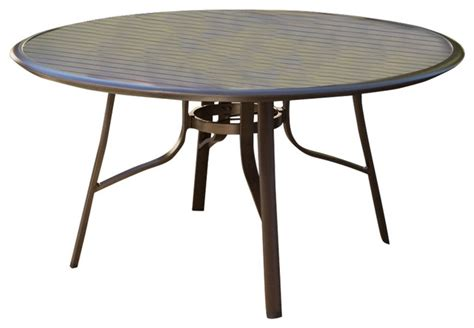 outdoor dining table with umbrella hole round 51 quot modern patio dining table with center umbrella
