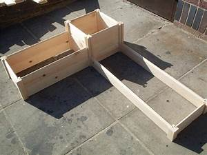 corner wooden timber raised planter bed grow your own With letter shaped planters for sale