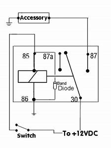 positive switched relay schematic diagram automotive With electronic relay wiring