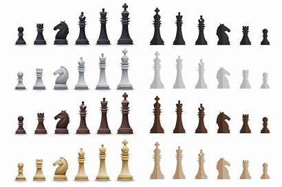 Chess Pieces Pattern Sets Chessboard Items Vector