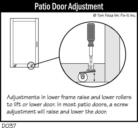 patio door sticks in winter misterfix it