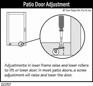 Patio Door Adjustment  U2013 Misterfix